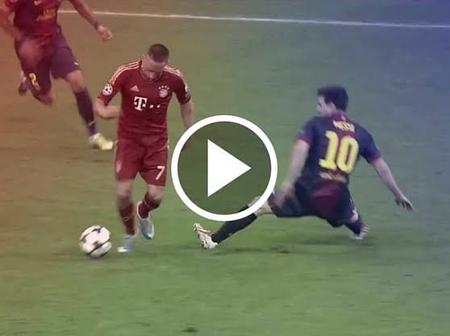 Throwback To When Lionel Messi Was Humiliated By Franck Ribéry In 2013 UCL Semi-final (Video)