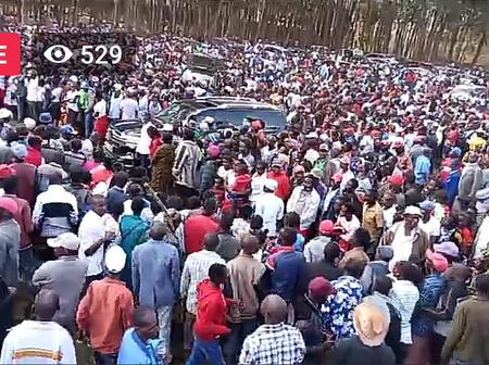 Ruto Forced To Cut Short His Speech In Meru As Youth Chant His Name
