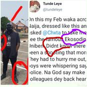 See what happened to a man who wore a black clothing on his first visit to Ekosodin in UNIBEN.