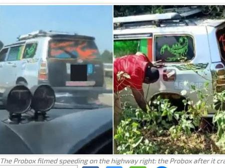 PROBOX Filmed Racing With a Subaru on Thika Highway Involved in an Accident