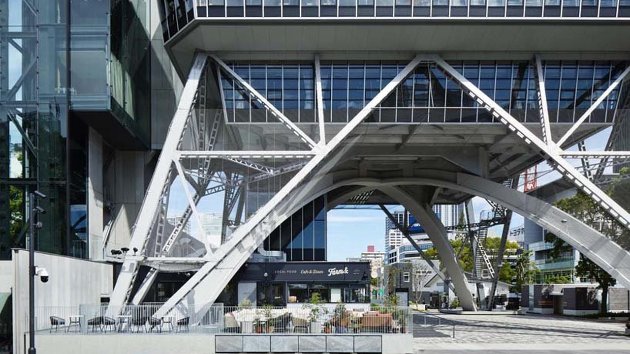 FHAMS turns 3 floors of nagoya TV tower into a hotel, café and restaurant
