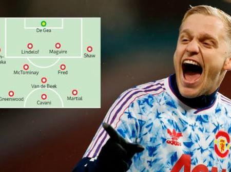UCL: Possible Manchester United Xi Vs Istanbul - Telles, Van De Beek And Cavani To Start