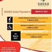 Here are the SASSA social grant and SRD March dates!