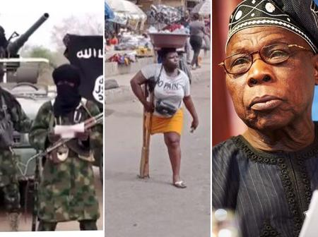 News headline: How I survive selling water on one leg, Bad blood stopped Abiola from Ruling– Obasanjo