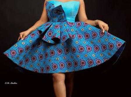 Latest chic and Elegant Ankara Gown for Ladies