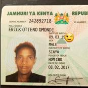 Comedian Eric Omondi Causes A stir Online As He Uploads His Identity Card Revealing His Birthdate