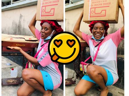 After She Got A New Sewing Machine Today, See Reactions On Twitter And What Some Men Asked Her