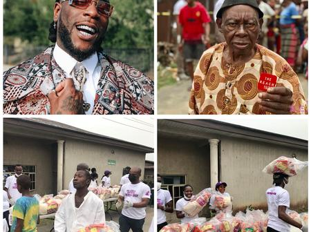 Check Out What Burna Boy Did For Poor And Disabled People In Rivers To Celebrate His Grammy Award