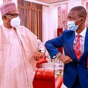 PHOTOS: President Buhari Meets With Newly Appointed EFCC Boss At The State House In Abuja