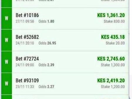Place These Multibet of 7 Teams With Ksh 300 And Win Huge Amount of Money This Today Middweek