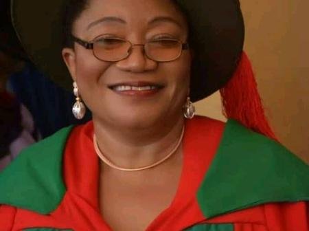 The first Nigerian woman to receive a doctorate
