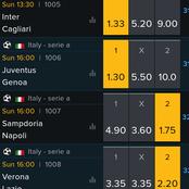 Inter, Juventus, Braga, Monaco Are Four Odibet Picks To Win