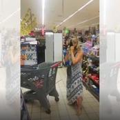 In Shock! White lady takes off her panty in front of shoppers and did this with it.