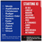 Official: Chelsea Vs Manchester United Lineup