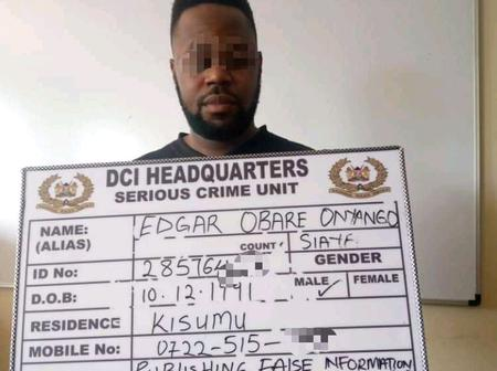 Blogger Ediga Obare Arrested After Failed Con Game