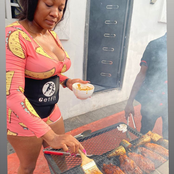 Lucy Is Doing Amazingly Well, Check Out What She Was Seen Doing With Her Staffs @Lucinas Grills.