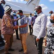 Raila Odinga Receives a Warm Welcome From Kalonzo Musyoka's Ally After his Plane Landed (Photos)