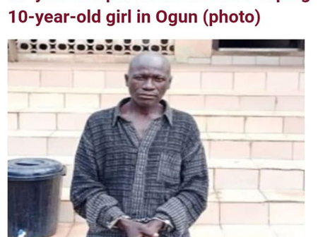 A 59 year old pastor arrested for rapping 10 year old girl in Ogun state
