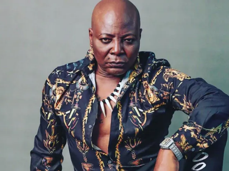 Nigerian Celebrity, Charly Boy Shows Off His Family's Old Car