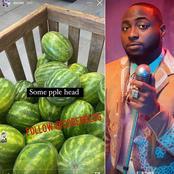 """Some people's head is like water melon"" -Davido"
