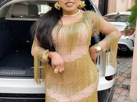 Bobrisky Stuns In Short Gown, Shows Off His Spotless Skin