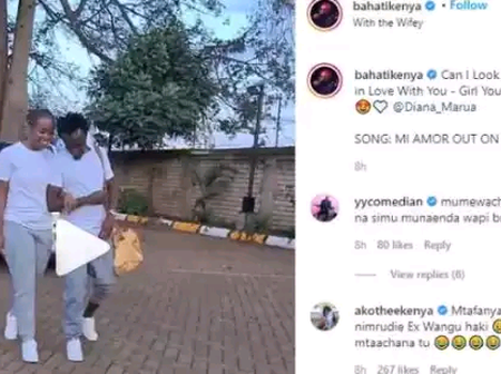 Akothee Attacks Bahati's In Their Recent Evening Post