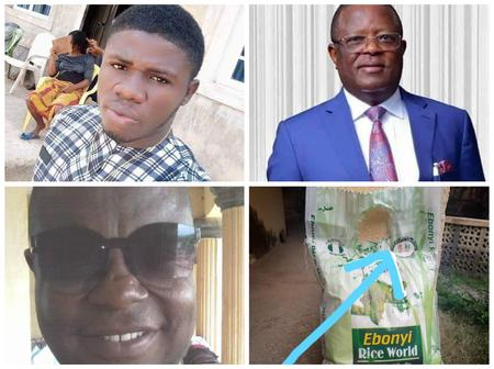 After EBSU Lecturer dragged Gov. David Umahi over rice, see how a man reacted to the lecturer's post
