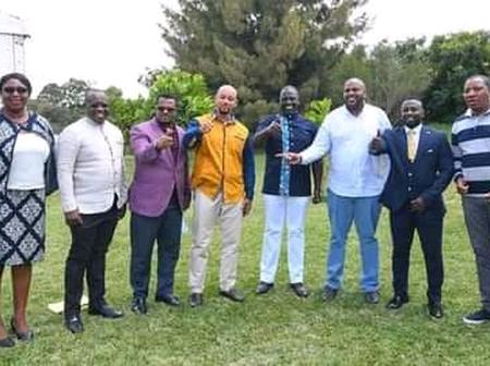 Photos Of DP Ruto Having Fun With UDA Leader At His Karen Home Today