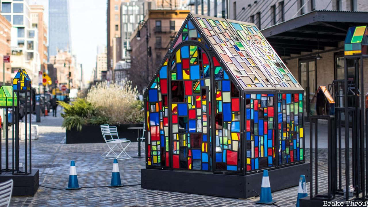 Bombora House, A New Tom Fruin Sculpture Lights Up Gansevoort Plaza