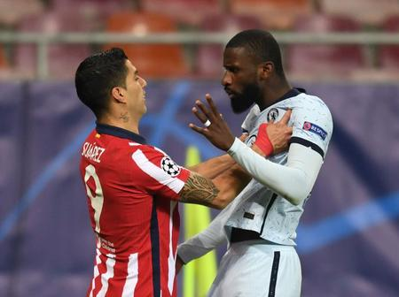 Luis Suarez Confronted by Antonio Rudiger After Pinching Him