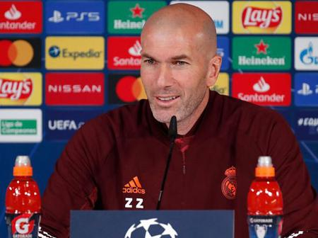 Zidane names 21-man squad for UCL clash against Liverpool