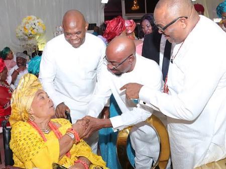 Femi Otedola Celebrates Tony Elumelu's Mum Birthday