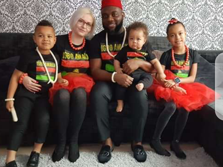 Meet The Adorable Family Of This Igbo Man Who Is Happily Married To A White Lady (PHOTOS)