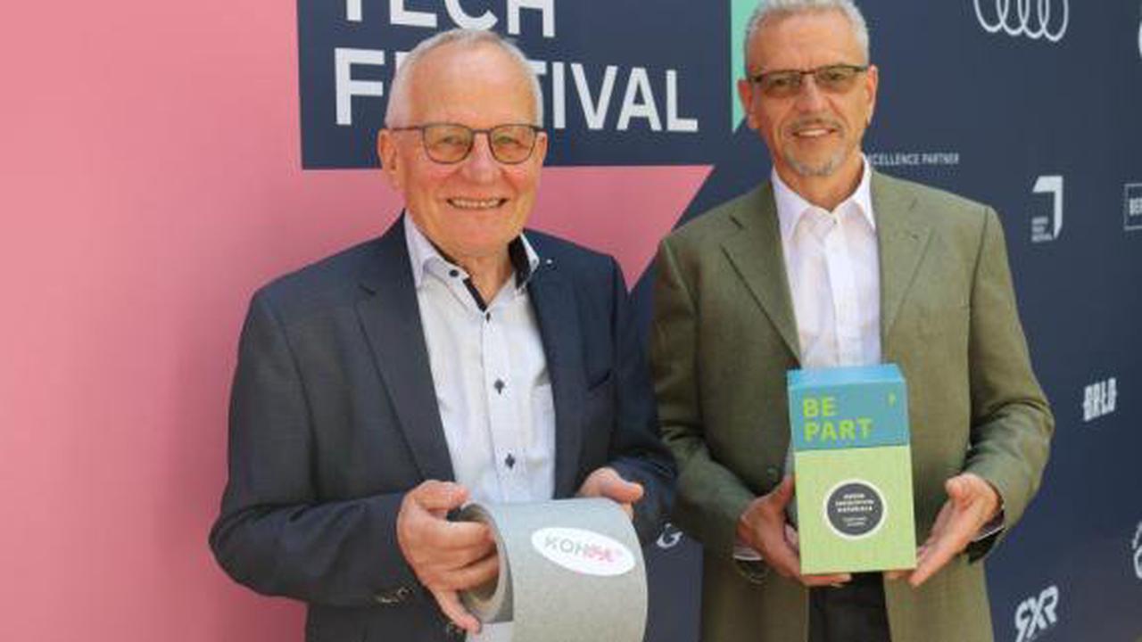 Start-up: Papier-Spezialisten aus Mering stellen eine Neuheit in Berlin vor