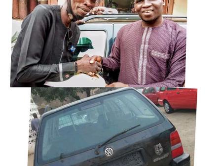 Buhari's Praise Singer, Rarara Gifts Car To former Hausa Musician, Mai Dawayya (Photos)