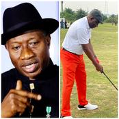 Check Out How People Reacted After Jonathan Posted Photos Of Himself Kicking Off Golf Competition