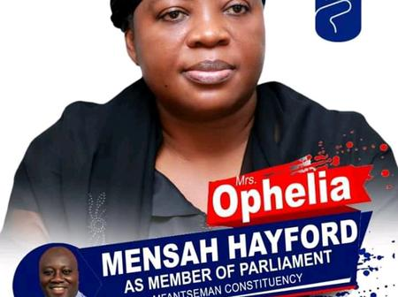 'Tears' as campaign poster of Mrs. Ophelia Quansah pops up online