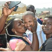 Reactions as a Woman is Spotted Kissing Babu Owino on the Cheeck