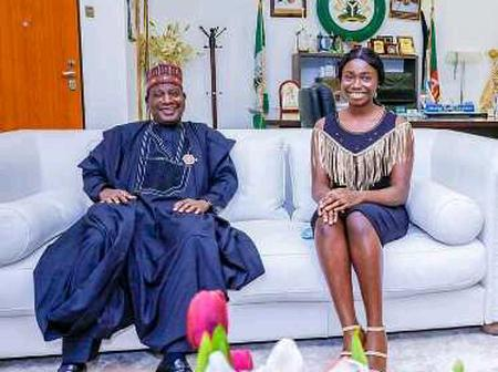 Weeks After She Made 9 A's In Her WAEC Exam, She Finally Meet the Governor To Secure A Scholarship