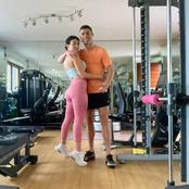 Cristiano Ronaldo Trains With His Girlfriend Georgina Rodriguez In The Gym
