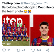 IS Coutinho Really Photoshopped Into The Official Team Photos Of FC Barcelona 2020/2021?