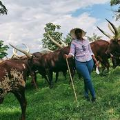 President Museveni's Well Educated Daughter Still Goes To The Ranch To Graze Cattle(Photos)