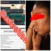 After Unilorin Started Releasing First Semester Results, See What 100level Girl Told Her Boyfriend