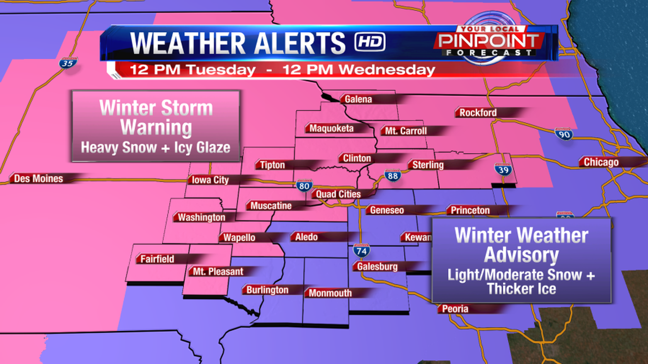 Heavy snow and ice today into tonight