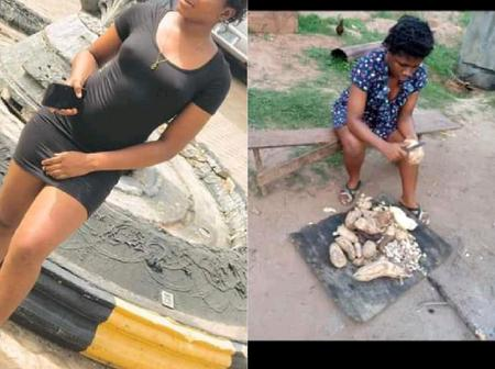 I fry Yam, Potatoes and Akara to Survive in School - Beautiful Lady says