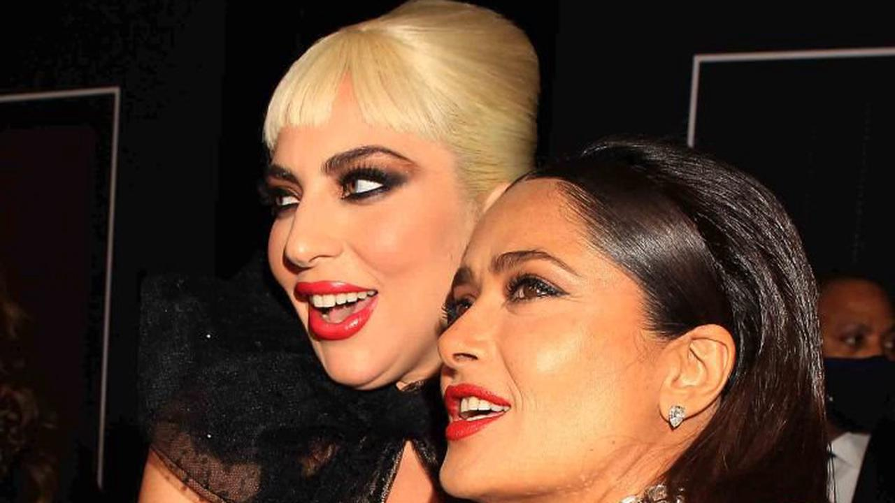 Salma Hayek debuts her bright red hair as she transforms into jailed clairvoyant Pina Auriemma to film House Of Gucci in Rome