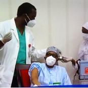 Nigeria president Buhari, VP receive COVID-19 vaccines in Aso Villa