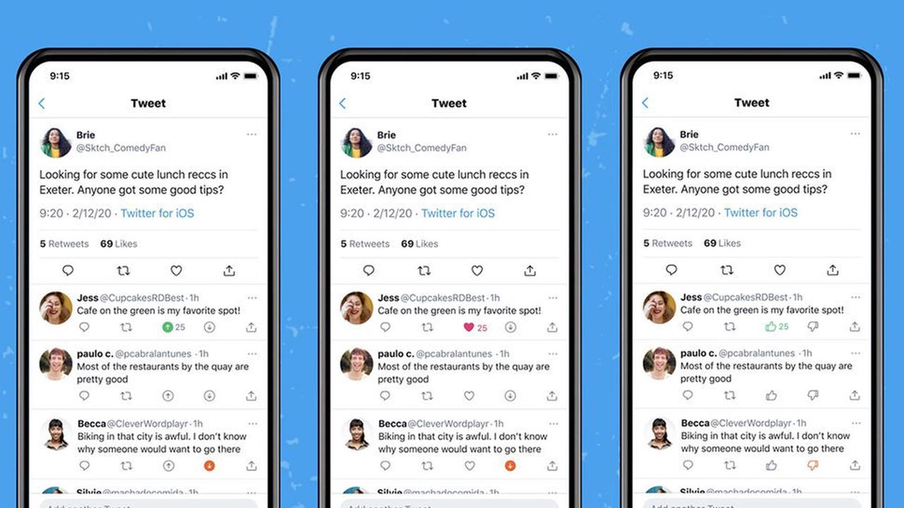 Twitter is testing letting you downvote or upvote tweets