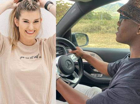Fans react to Rachel Kolisi giving Siya's little brother, driving lessons in a Mercedes Benz.