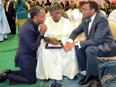 Obasanjo Is A Man Of Honour, See Photos Of Jonathan, Tinubu & Others Greeting Him Respectably